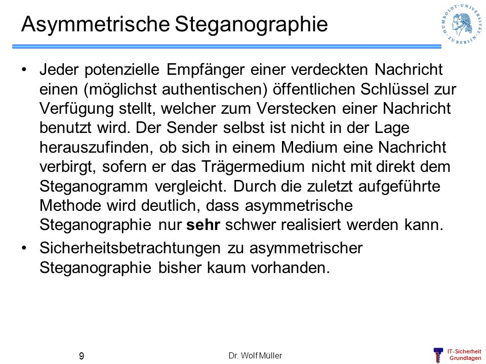 Asymmetrische Steganographie
