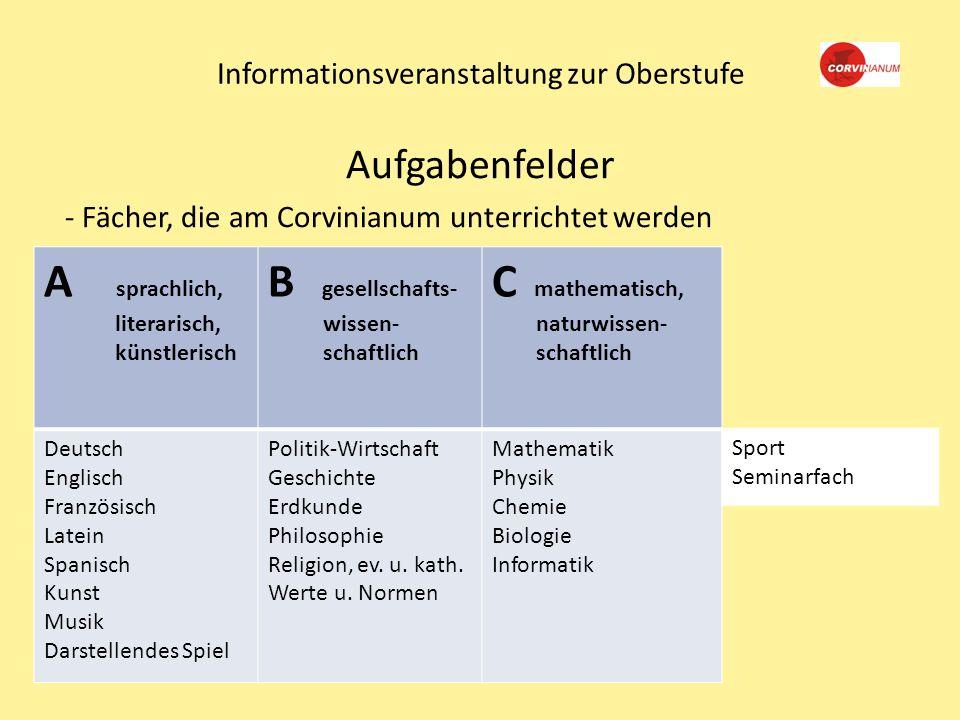 Informationsveranstaltung zur Oberstufe