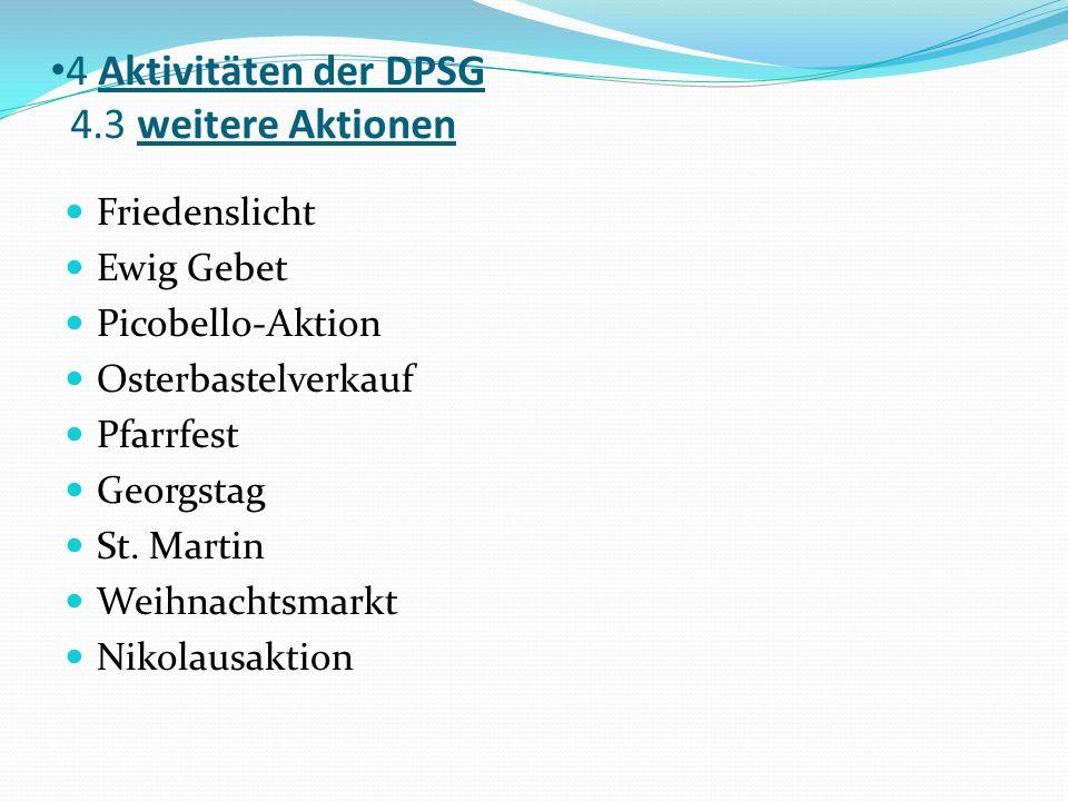 4 Aktivitäten der DPSG 4.3 weitere Aktionen