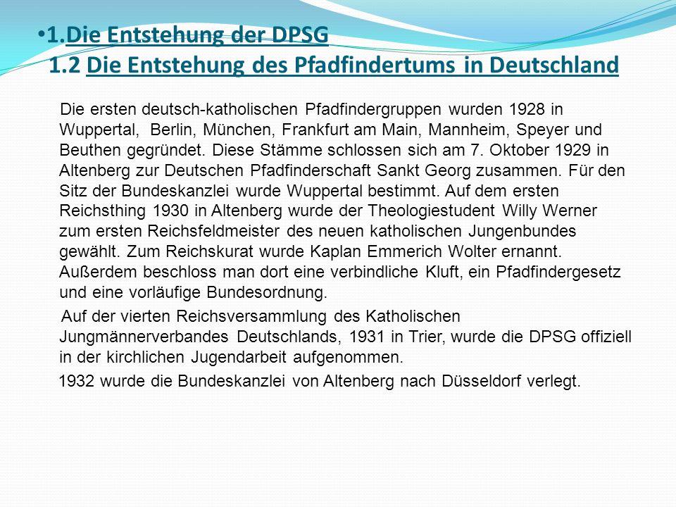 1. Die Entstehung der DPSG 1