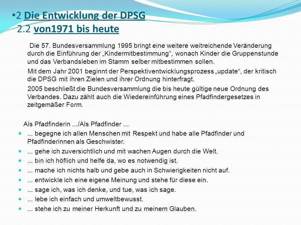 2 Die Entwicklung der DPSG 2.2 von1971 bis heute