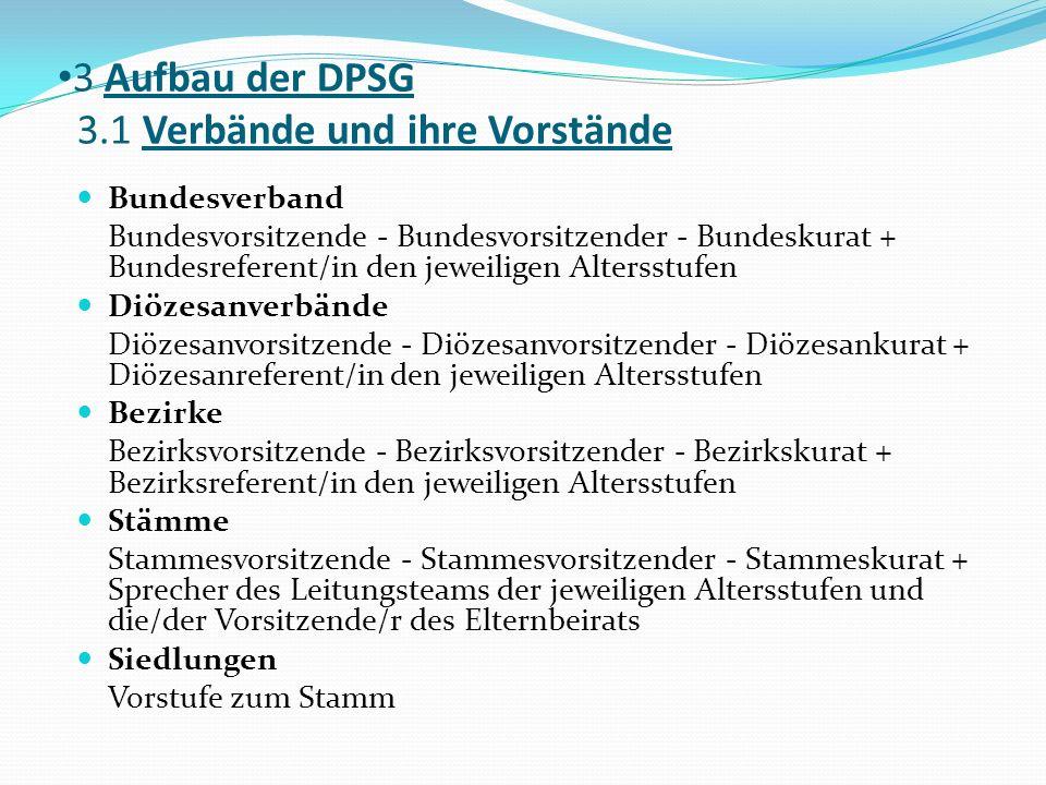 3 Aufbau der DPSG 3.1 Verbände und ihre Vorstände