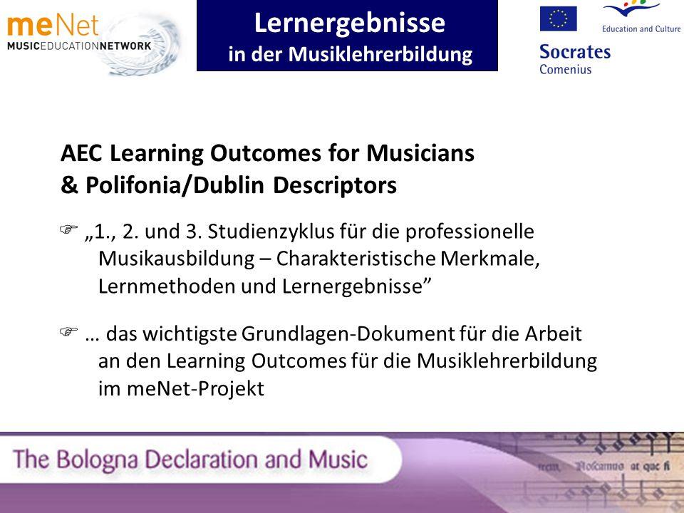 Lernergebnisse in der Musiklehrerbildung