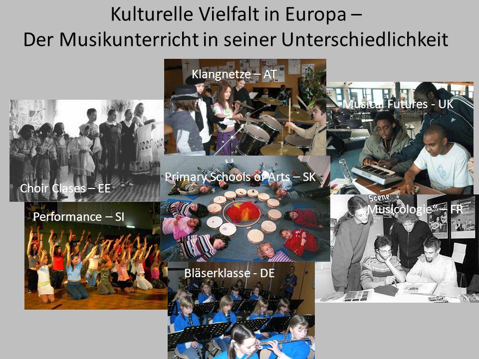 Kulturelle Vielfalt in Europa – Der Musikunterricht in seiner Unterschiedlichkeit