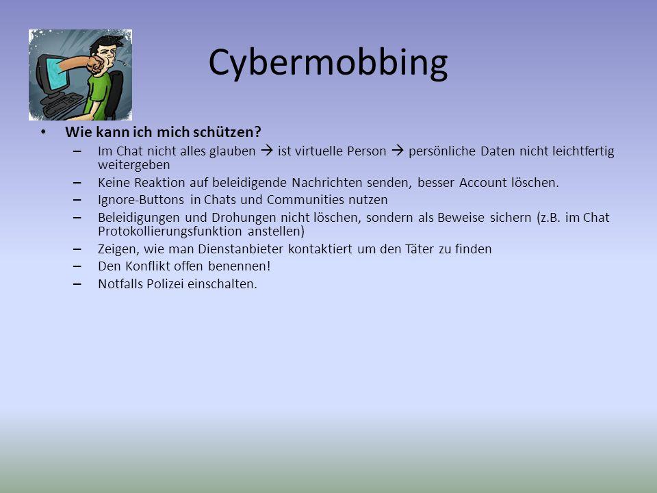 Cybermobbing Wie kann ich mich schützen