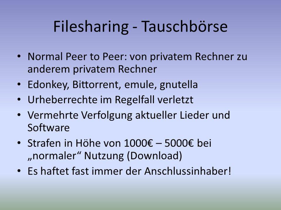 Filesharing - Tauschbörse
