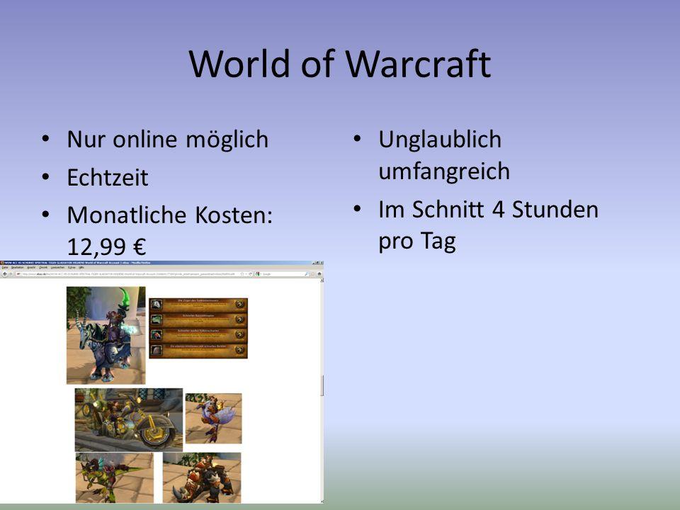 World of Warcraft Nur online möglich Echtzeit