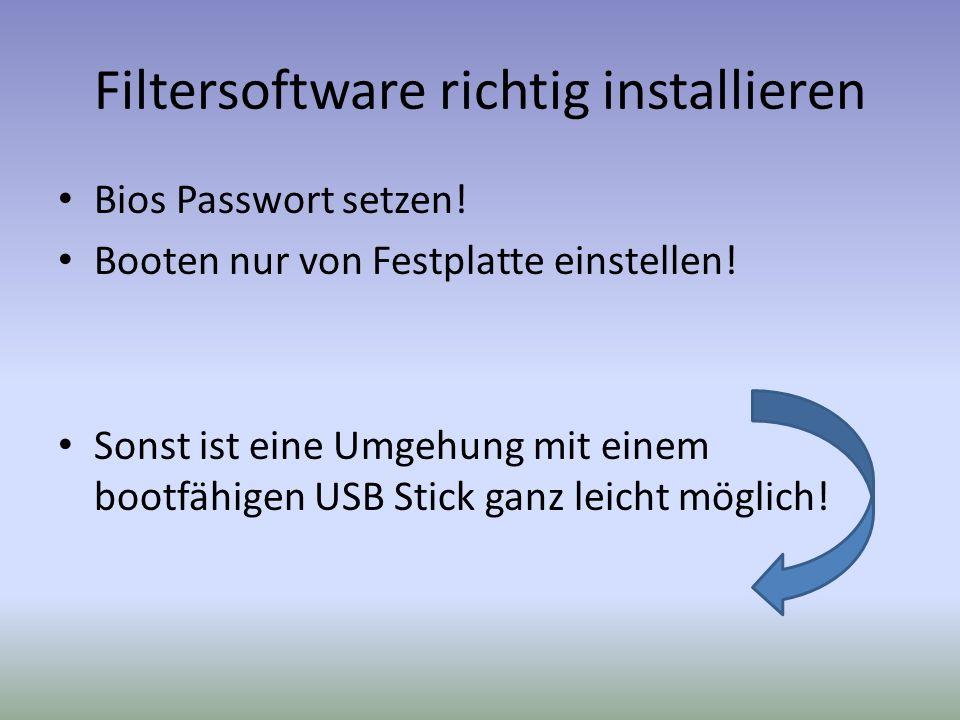 Filtersoftware richtig installieren