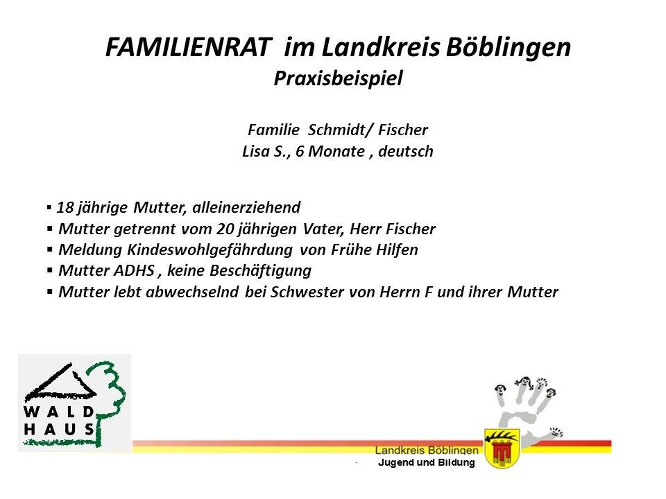 FAMILIENRAT im Landkreis Böblingen Familie Schmidt/ Fischer