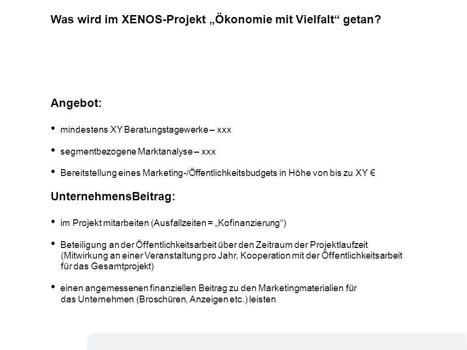 """Was wird im XENOS-Projekt """"Ökonomie mit Vielfalt getan"""