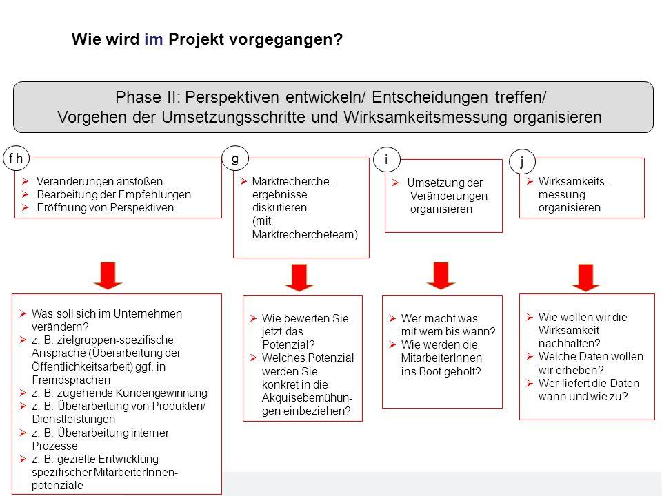 Wie wird im Projekt vorgegangen