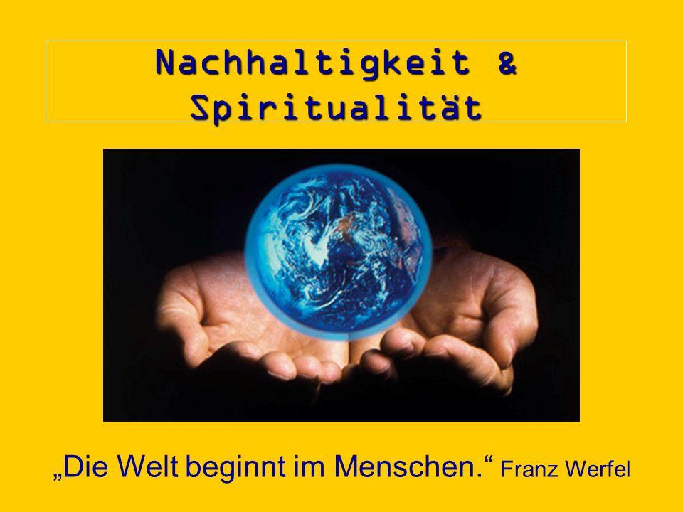 Nachhaltigkeit & Spiritualität