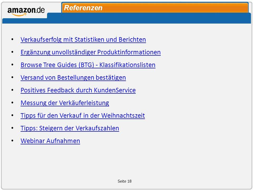 Referenzen Verkaufserfolg mit Statistiken und Berichten. Ergӓnzung unvollstӓndiger Produktinformationen.