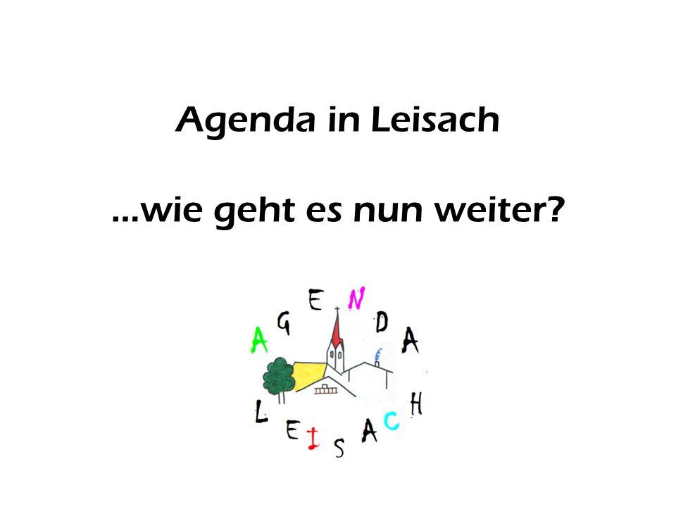 Agenda in Leisach …wie geht es nun weiter