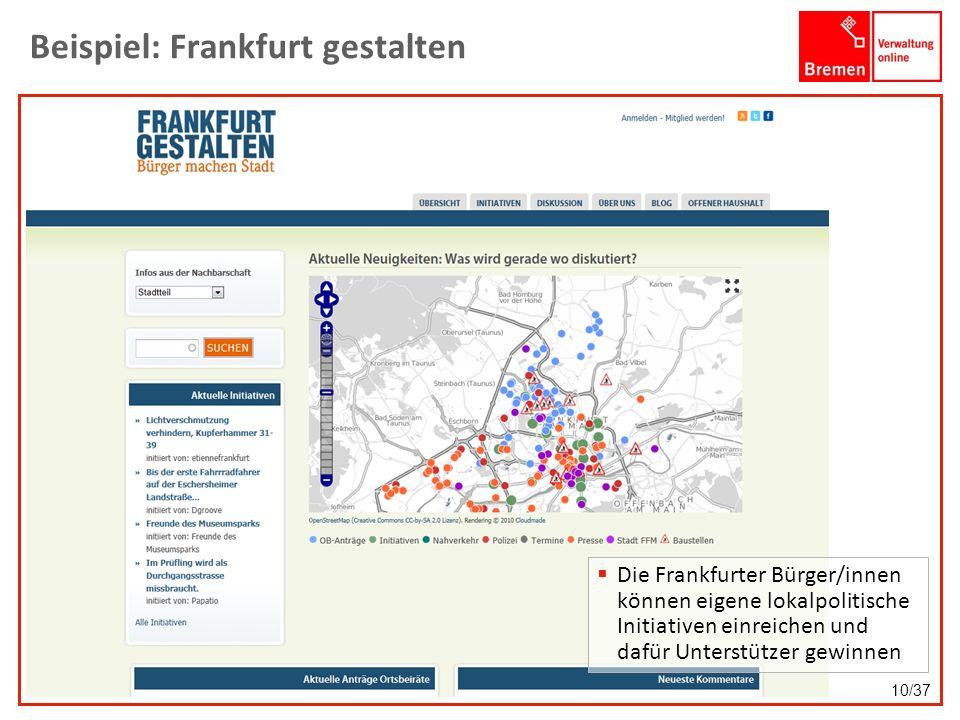 Beispiel: Frankfurt gestalten
