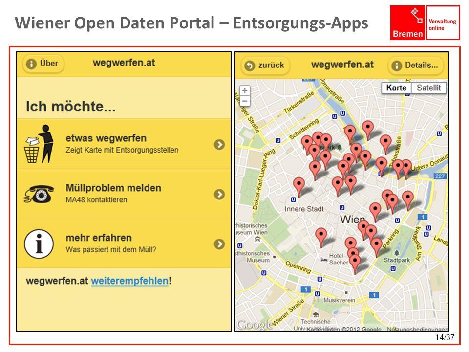Wiener Open Daten Portal – Entsorgungs-Apps