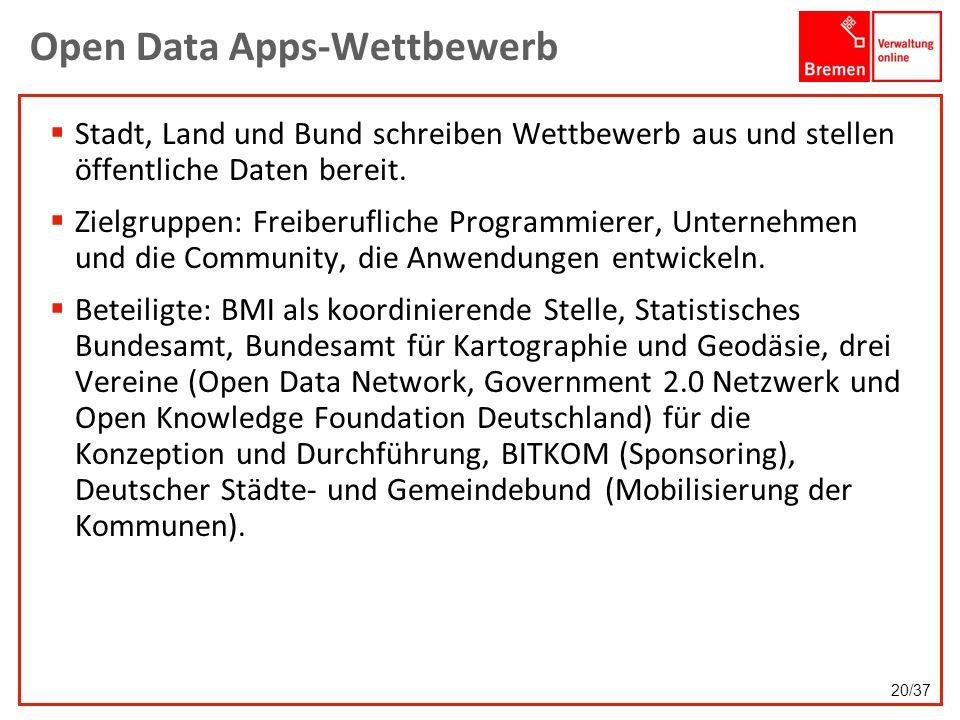 Open Data Apps-Wettbewerb