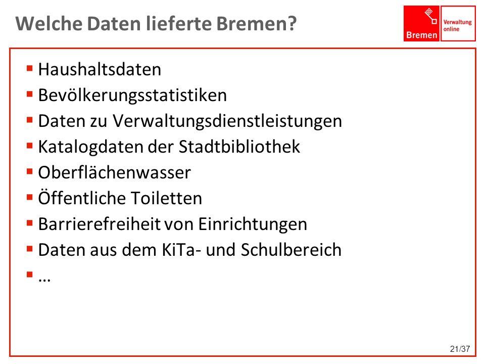 Welche Daten lieferte Bremen