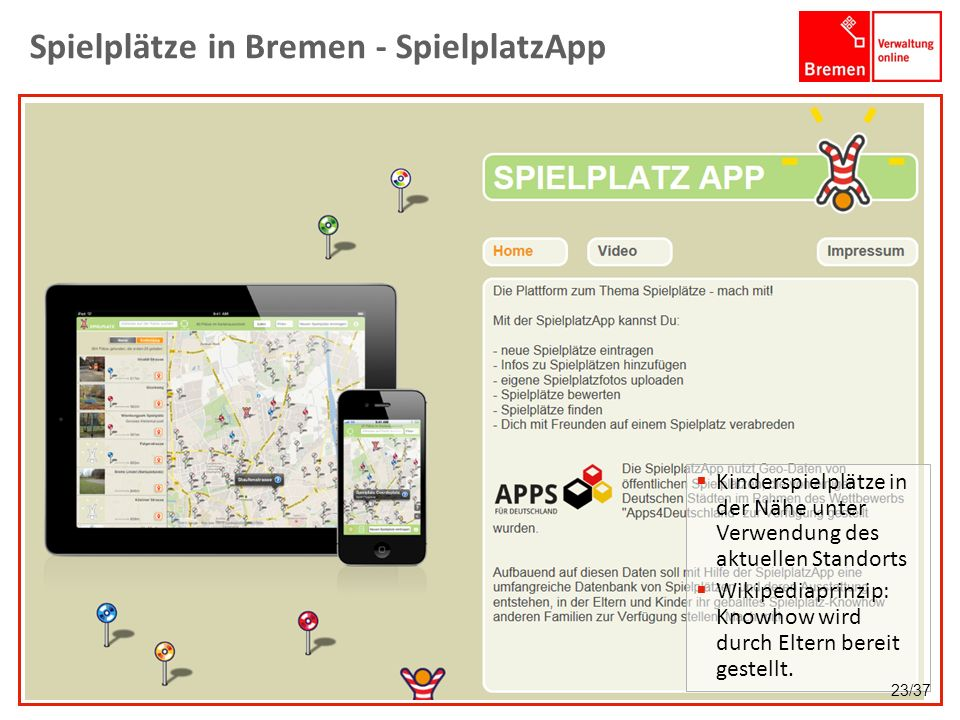 Spielplätze in Bremen - SpielplatzApp