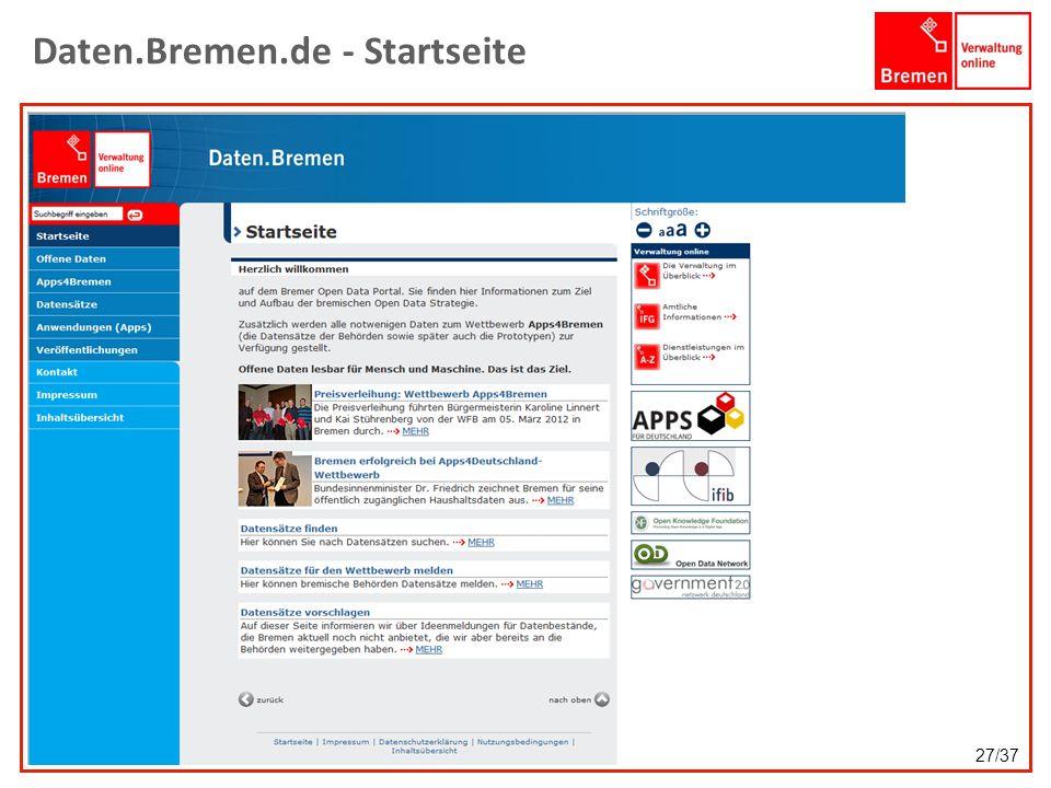 Daten.Bremen.de - Startseite