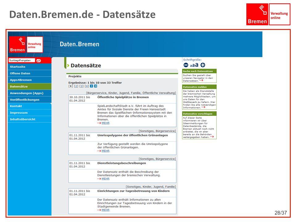 Daten.Bremen.de - Datensätze