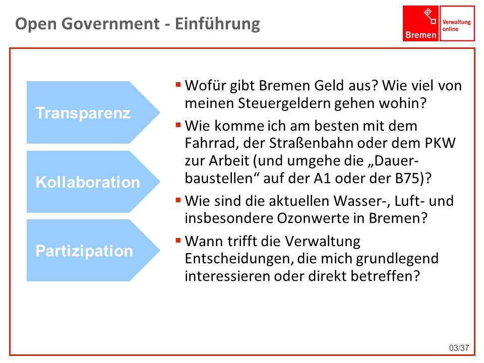 Open Government - Einführung