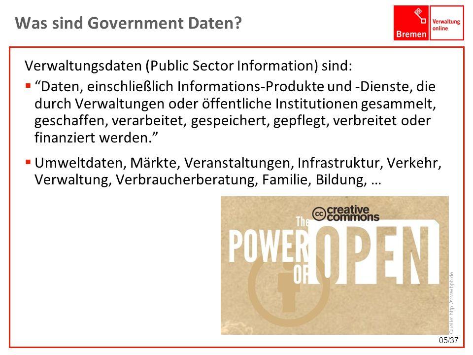 Was sind Government Daten