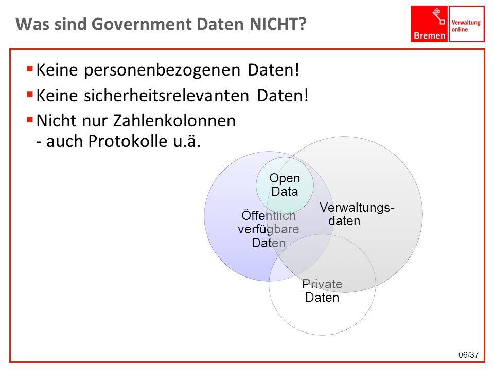 Was sind Government Daten NICHT