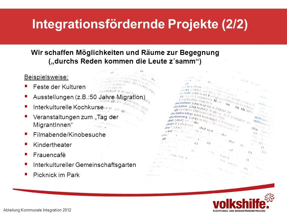 Integrationsfördernde Projekte (2/2)