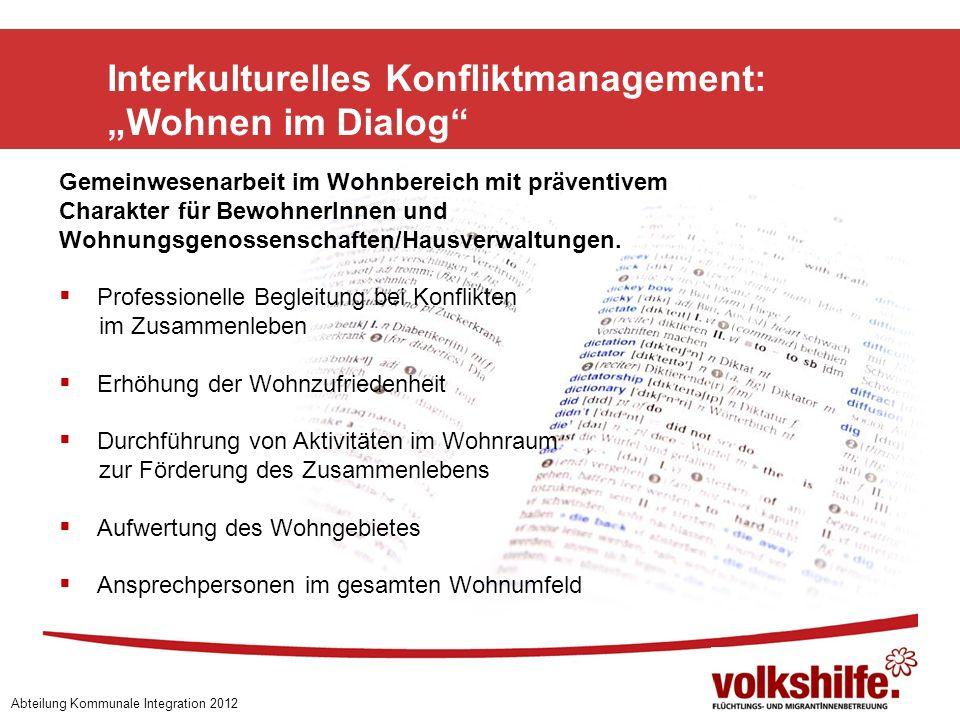 """Interkulturelles Konfliktmanagement: """"Wohnen im Dialog"""