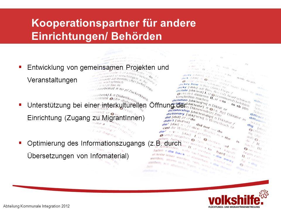 Kooperationspartner für andere Einrichtungen/ Behörden