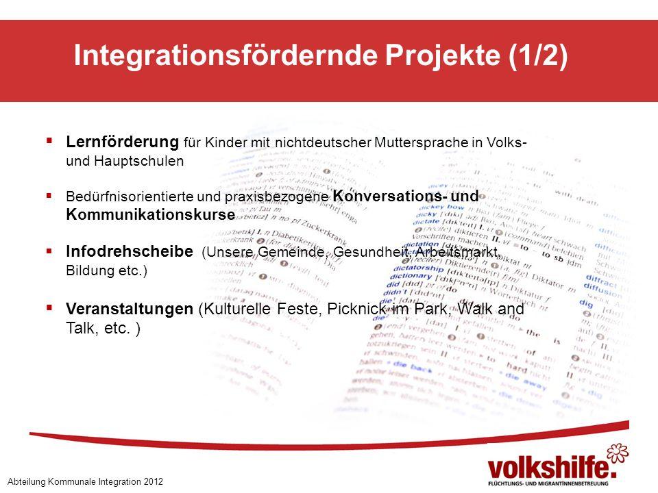 Integrationsfördernde Projekte (1/2)