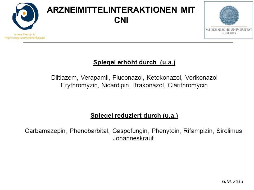 ARZNEIMITTELINTERAKTIONEN MIT CNI