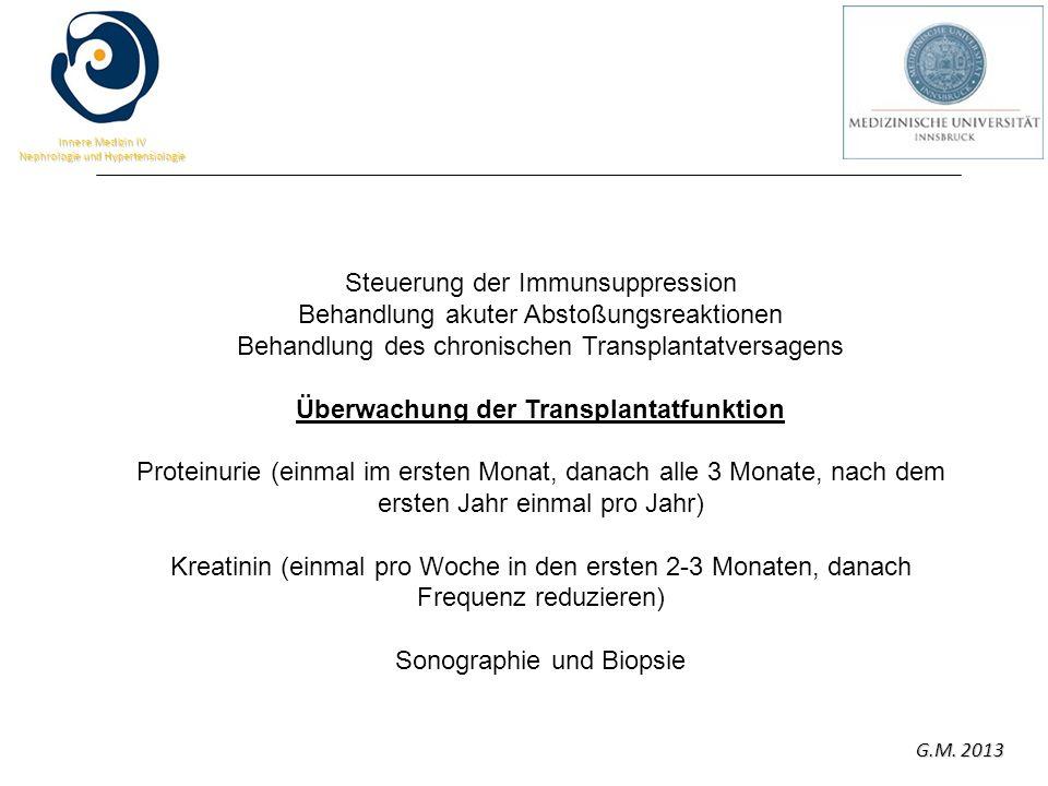Überwachung der Transplantatfunktion