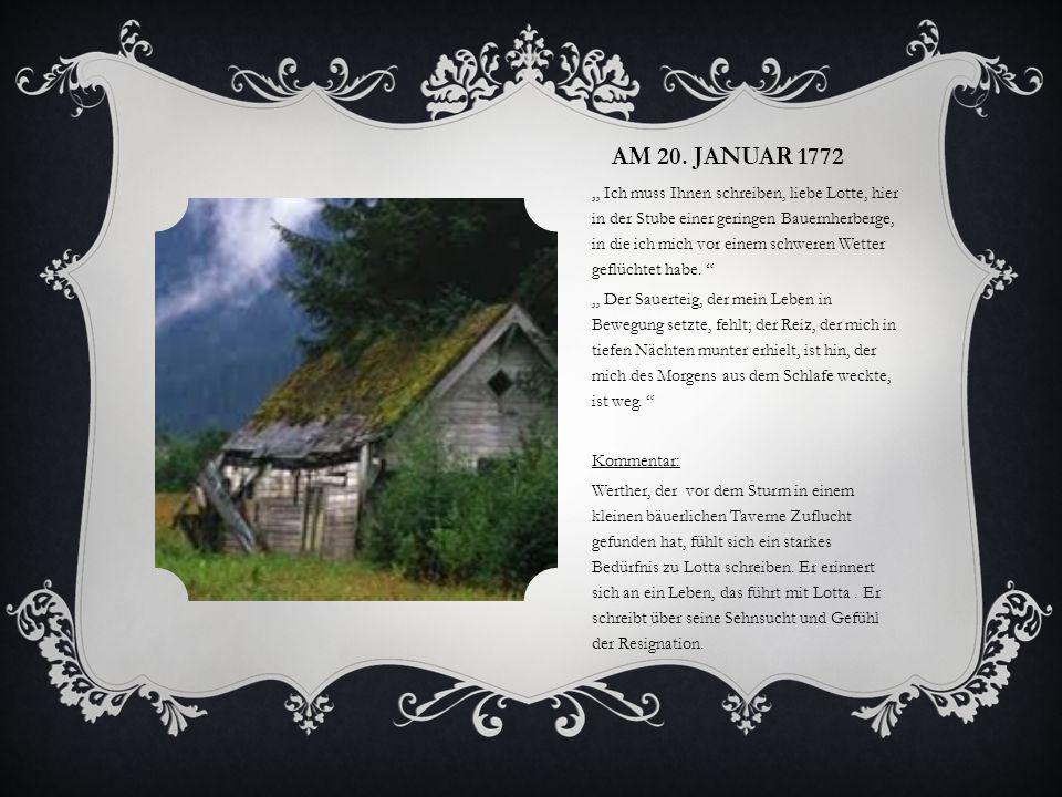 Am 20. Januar 1772