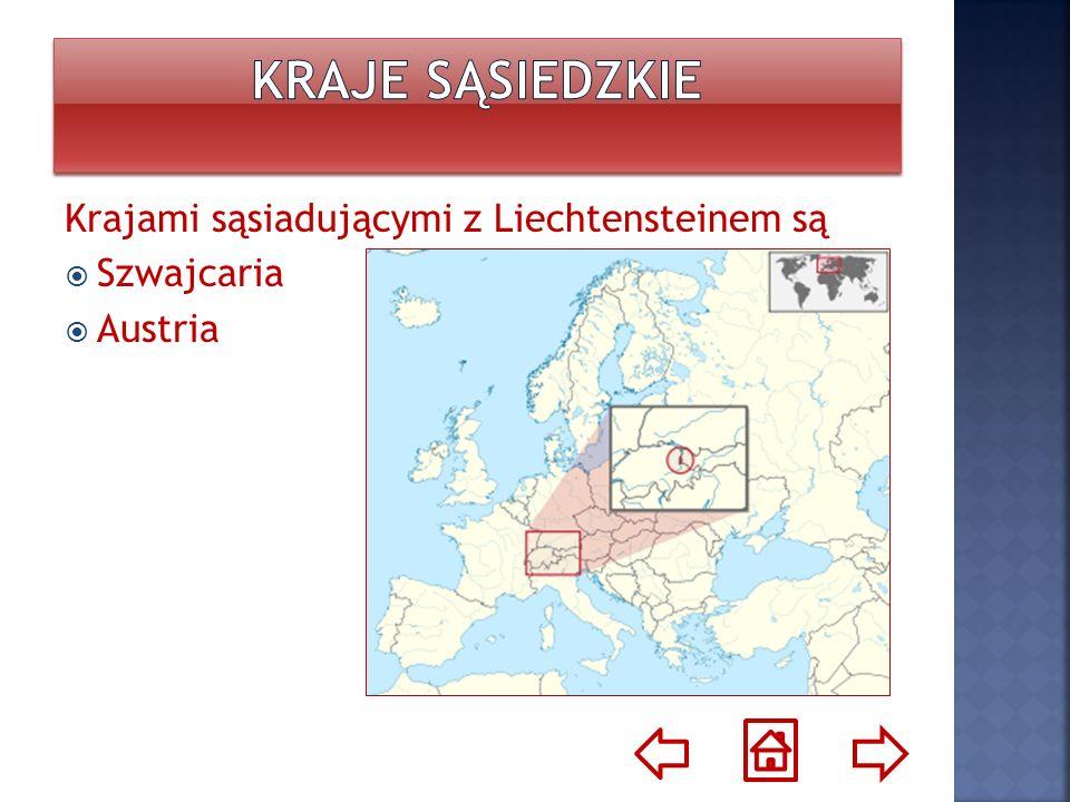 Kraje sąsiedzkie Krajami sąsiadującymi z Liechtensteinem są Szwajcaria
