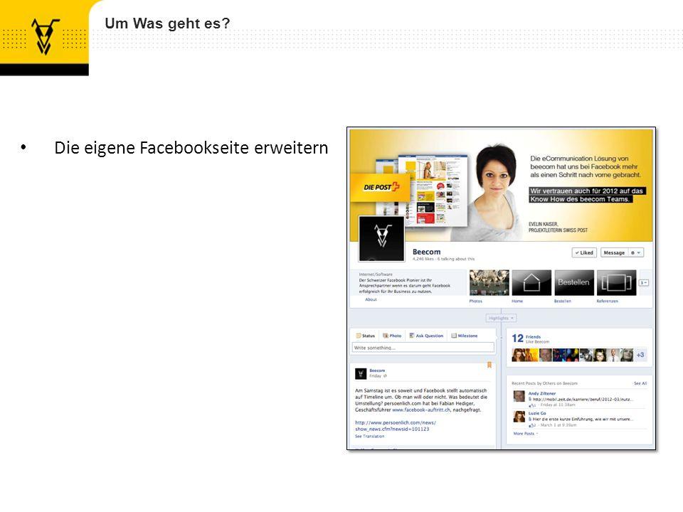 Die eigene Facebookseite erweitern