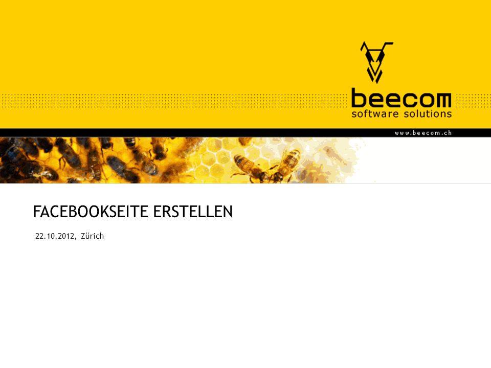 FACEBOOKSEITE ERSTELLEN 22.10.2012, Zürich