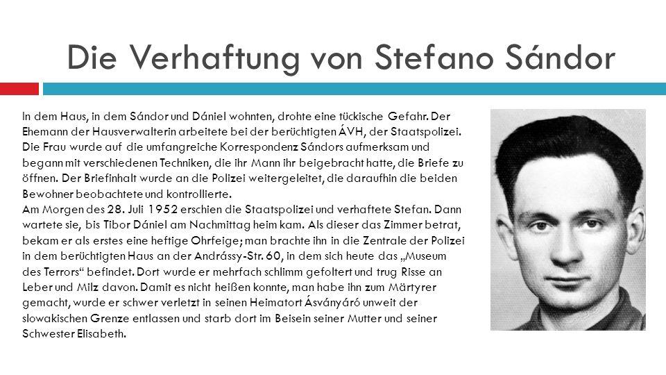 Die Verhaftung von Stefano Sándor
