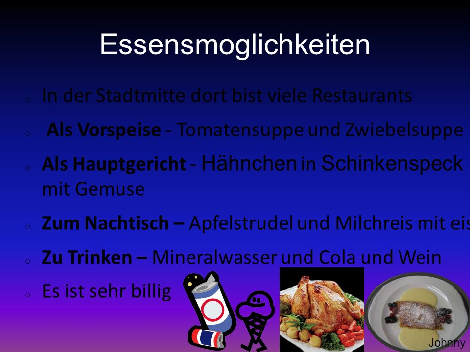 Essensmoglichkeiten In der Stadtmitte dort bist viele Restaurants
