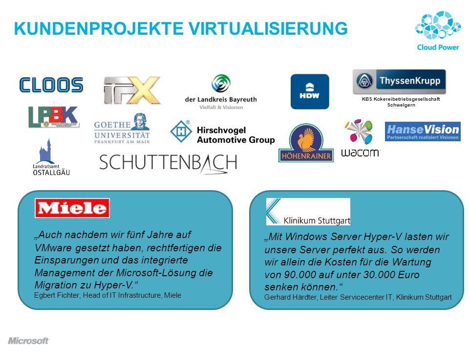 Kundenprojekte Virtualisierung