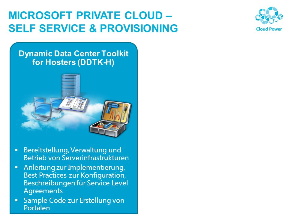 Microsoft private cloud – self service & provisioning