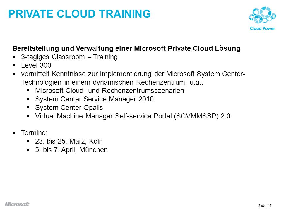 Private Cloud Training