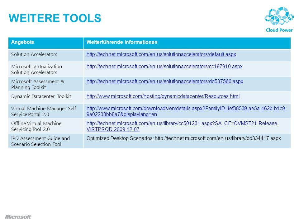Weitere tools Angebote Weiterführende Informationen