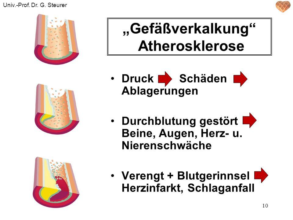 """Gefäßverkalkung Atherosklerose"