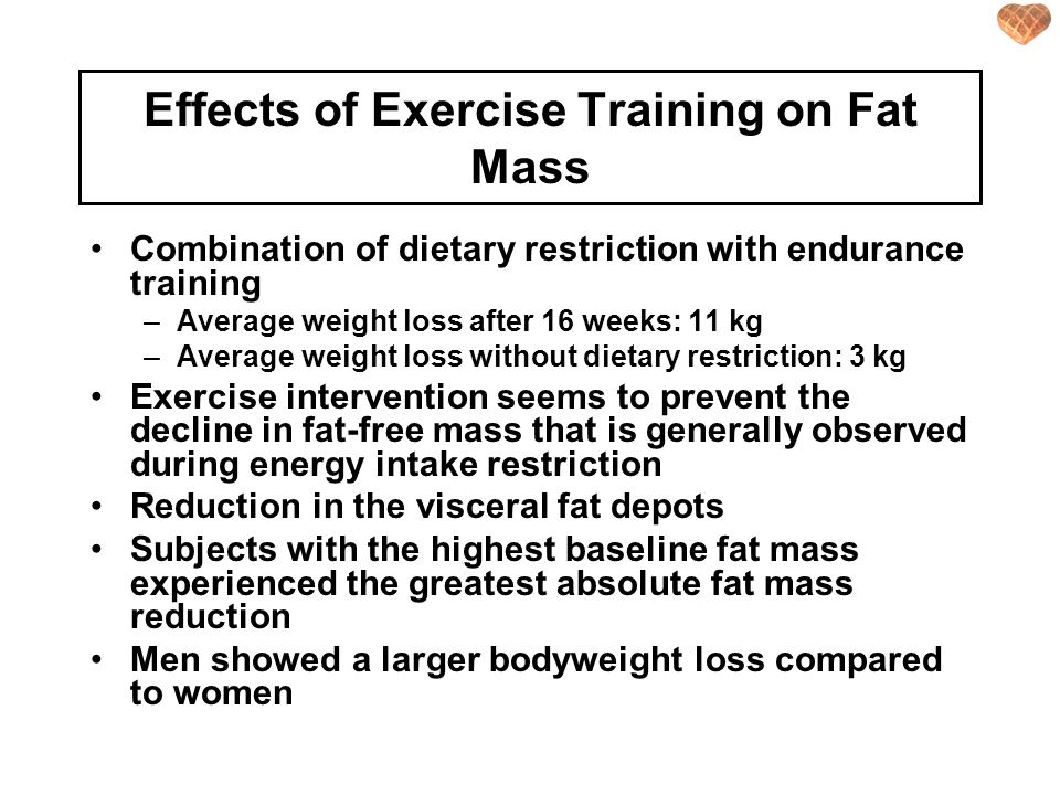 Effects of Exercise Training on Fat Mass