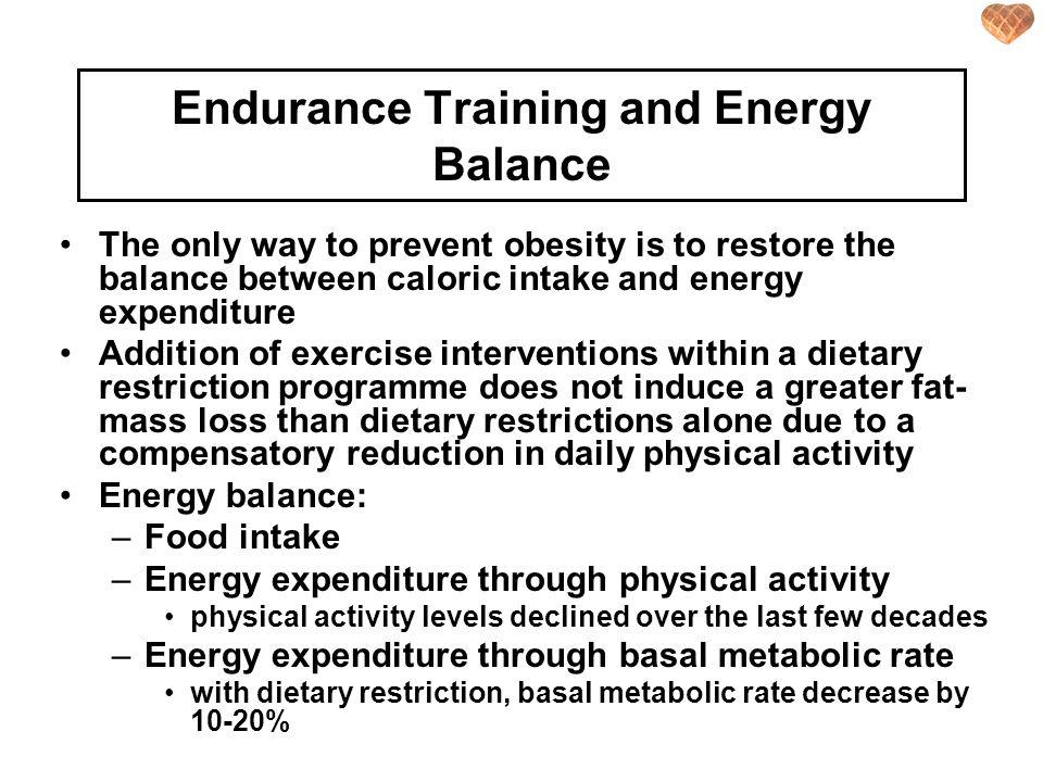 Endurance Training and Energy Balance