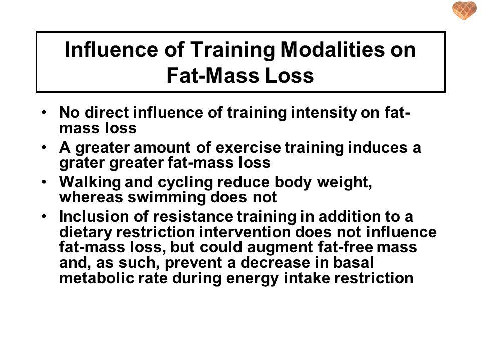 Influence of Training Modalities on Fat-Mass Loss