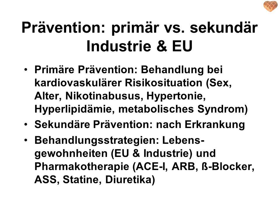 Prävention: primär vs. sekundär Industrie & EU