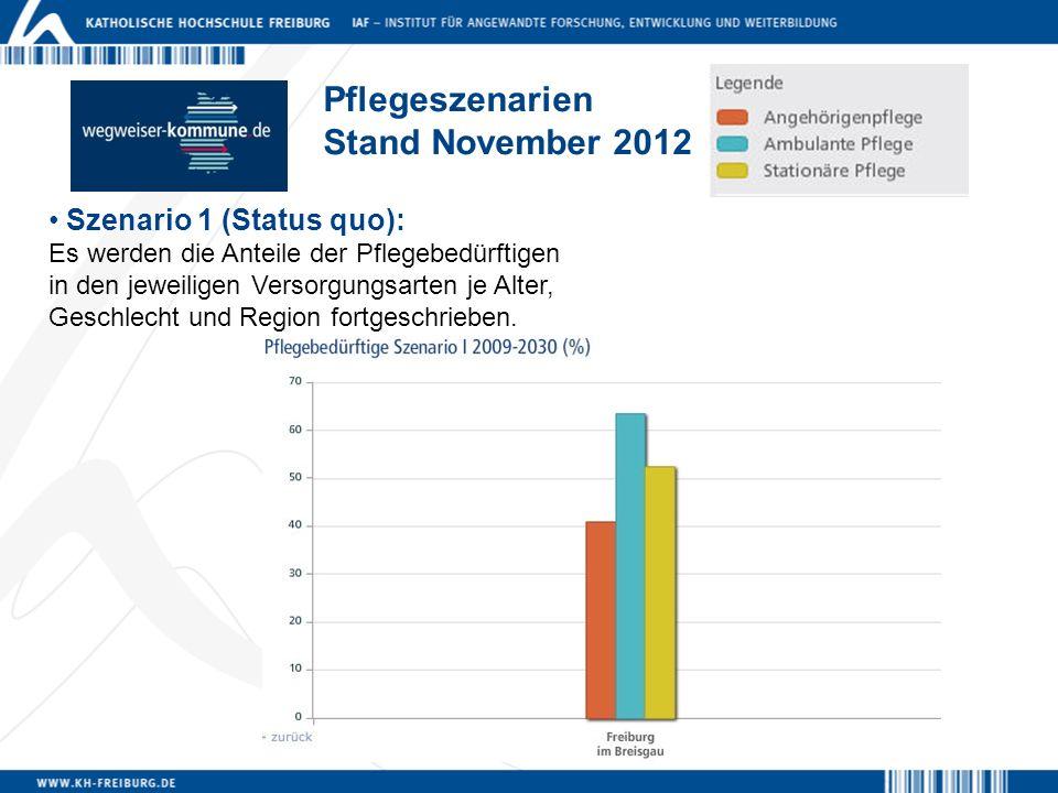 Pflegeszenarien Stand November 2012